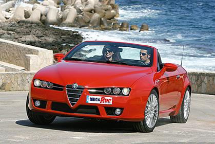 Alfa Romeo Spider prices for car hire in crete