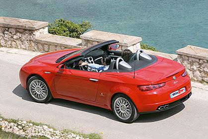 Alfa Romeo Spider - crete rent a car prices in heraklion inside car