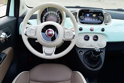 Fiat 500 Cabrio Manual - rent a car prices in crete inside car