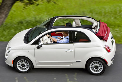 Fiat 500 Cabrio Automatic car hire crete offer