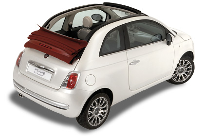 rent a car heraklion airport price quote Fiat 500 Cabrio Automatic baggage