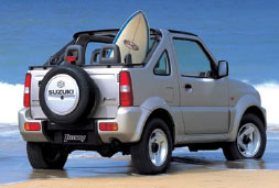 Suzuki Jimny - car hire crete prices baggage