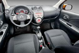 Nissan Micra Automatic - crete rent a car prices in heraklion inside car