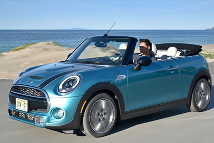 Mini Cooper Cabrio 4 seats special car rental heraklion offer