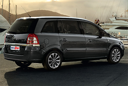 Opel Zafira Automatic - car rental crete prices baggage