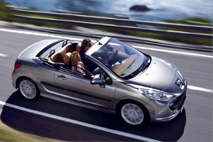 Peugeot 207 Cabrio - crete car rental prices in heraklion