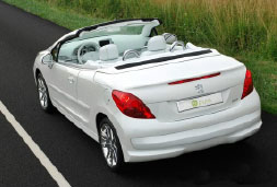 Peugeot 207 Cabrio - car rental crete prices baggage