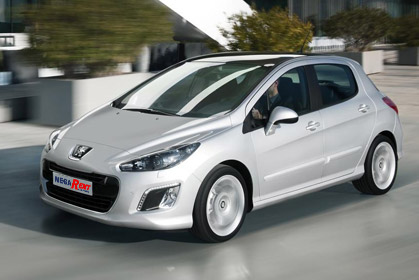 crete car rental prices for a Peugeot 308