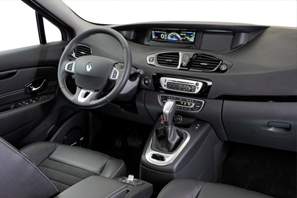 car hire crete Renault Scenic Automatic inside car
