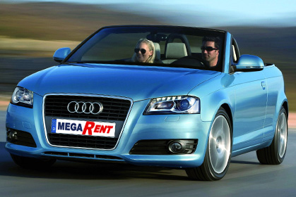Audi A3 Cabrio automatic car hire crete offer