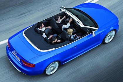 Audi A3 Cabrio automatic - rent a car prices in crete inside car