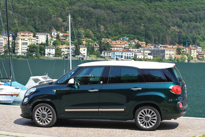 Fiat Living 500L Automatic - prices for car rental in heraklion crete