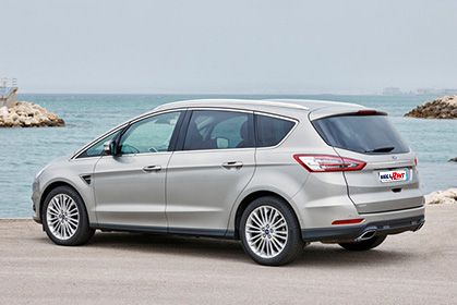 car hire heraklion airport price Ford S-Max 7 seats Titanium