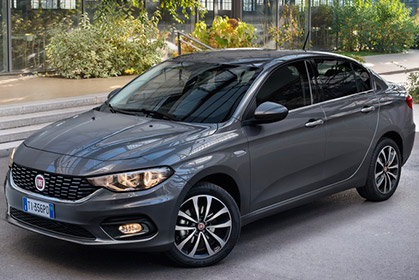 crete car rental prices for a Fiat Tipo Sedan