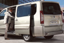Fiat Scudo prices for car hire in crete baggage