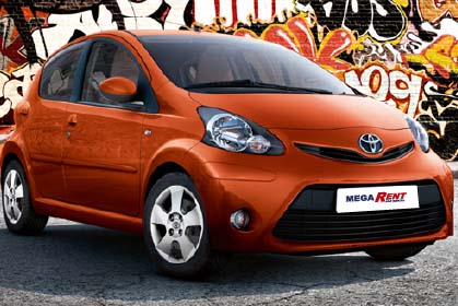 car hire heraklion airport price Toyota Aygo