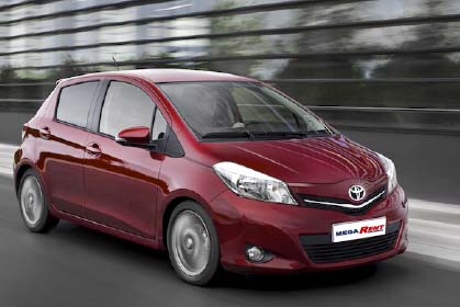 car hire crete Toyota Yaris Automatic