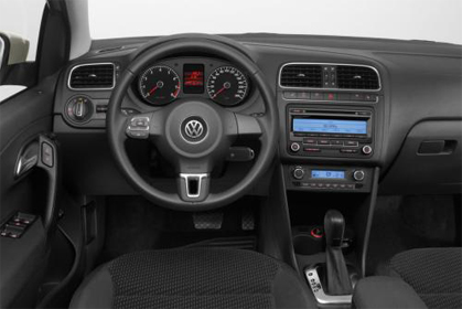 car hire crete VW Polo inside car